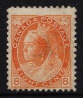 Canada 1898 Queen Victoria 8c Orange-Yellow MH Sc 82, SG 162 - See Notes - 1851-1902 Reign Of Victoria