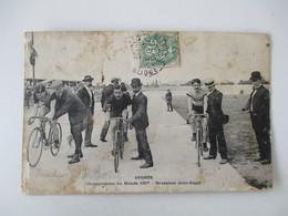 Championnat Du Monde 1907 - Deuxieme Demi Finale - Superbe Gros Plan - Voyagée En 1907 - Cycling