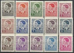YU 1939-393-407 5A°KÖNIG ALEXANDER, YUGOSLAVIA, 1 X 15v, MH - 1931-1941 Königreich Jugoslawien