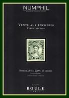 Catalogue Numphil - Boule Vente Aux Enchères 2009 Paris TTB (tout En Couleur) - Catalogues For Auction Houses