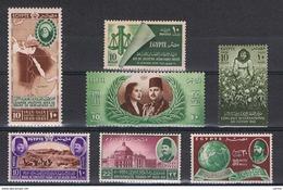 EGITTO:  1949/51  COMMEMORATIVI  -  5  S. CPL. N. -  YV/TELL. 269//80 - Nuovi