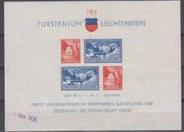 Liechtenstein 1936 Postmuseum Vaduz M/s * Mh (= Mint, Hinged  (42443)  Stamps OK - Blokken