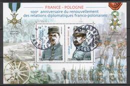 FRANCE 2019 Bloc - France - Pologne Oblitéré Cachet Rond - France