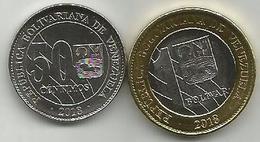 Venezuela 50 Centimos And 1 Bolivar SOBERANO 2018. HIGH GRADE - Venezuela