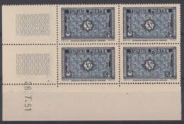 N° 352 En Bloc De 4 Coin Daté 26/07/51 - X X - ( C 421 ) - Neufs