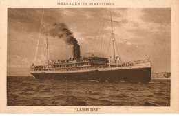 MESSAGERIES MARITIMES PAQUEBOT LAMARTINE - Steamers