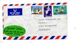 Lettre Cachet Accra  Sur Mais Oiseau Noel - Ghana (1957-...)