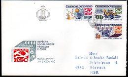 CZECHOSLOVAKIA 1985 Socialist Construction  FDC.  Michel 2831-33 - FDC