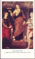 S.Agata Fra S. Caterina D'Alessandria E S.Cecilia, Santino Con Preghiera - Religion &  Esoterik
