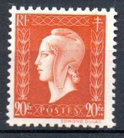 Marianne De Dulac - 30F Brun-orange - N° 700** - 1944-45 Marianne Of Dulac