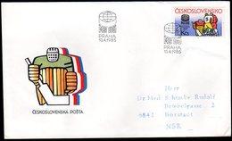 CZECHOSLOVAKIA 1985 Ice Hockey Championships FDC.  Michel 2810 - FDC