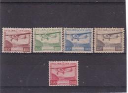 # E.9722 Japan 1929 - 34 MLH Full Set Michel 195 - 98 + 203: Aviation - Unused Stamps