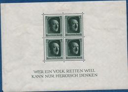 Allemagne - 1937 - Bloc Feuillet  N° 8  Neuf /charnières   6 P.vert X 4    Voir Scans - Deutschland