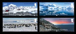 British Antarctic Territory BAT 2018 Landscapes Penguins 4v MNH - Neufs