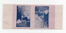 Erinnophilie Vignette Concours Agricole 1er-7 Juin 1914 Beauvais (2 Vignettes) - Erinnophilie