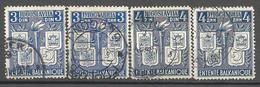 YU 1940-422-5 BALKAN, YUGOSLAVIA, 1 X 4v,oo - 1931-1941 Royaume De Yougoslavie