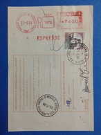 1988 AFFRANCATURA MECCANICA ROSSA EMA RED SU BOLLETTINO PACCHI GRAVINA DI PUGLIA BARI RACCOMANDATA ESPRESSO - Affrancature Meccaniche Rosse (EMA)