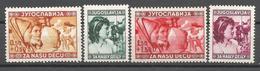 YU 1940-418-21 CHILDREN, YUGOSLAVIA, 1 X 4v,MH - 1931-1941 Royaume De Yougoslavie