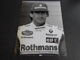 Photo De Presse - Formule 1 - Ayrton Senna - Automobiles