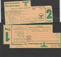 Sélestat : Reichskarte Für Urlauber Schlettstadt - 1939-45