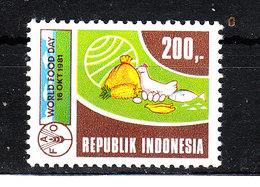 Indonesia - 1981. Per L' Alimentazione Nel Mondo. FAO.For Food In The World. MNH - Against Starve