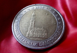 2 Euro 2008 -  D  - Germany Hamburg Allemagne Germany Alemania Германия Deutschland CIRCULEET  COIN - Allemagne