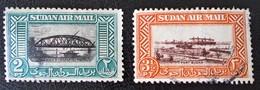 PONT SUR LE NIL ET PORT SOUDAN 1950 - OBLITERES - YT PA 33 + 36 - Soudan (1954-...)