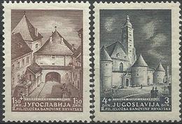 YU 1941-437-8A FILA ZAGREB, YUGOSLAVIA, 1 X 2v, * - Unused Stamps