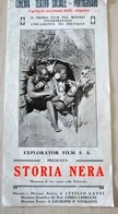 STORIA NERA - Brochure Originale - Explorator Film - Silet Movie - Cinema Muto - Cinema Advertisement