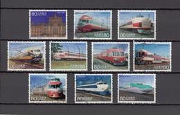 Japan 2013 - Railroad Series 1, Michelnr. 6573-82 - 1989-... Keizer Akihito (Heisei-tijdperk)