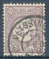 D - [805934]Pays-Bas 1876-94, N° 33a, 2 1/2c Lilas, TB Obl 'VLISSINGEN' (Flessingue) - 1852-1890 (Guillaume III)