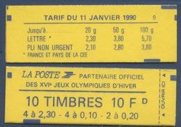 Carnet Type Marianne De Briat N° 1502  Faciale 10 F - Carnets