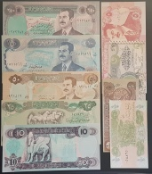HX - Iraq 1990s Saddam Inflation Banknotes: 1/4-1/2-1-5-10-25-50-100-250 UNC - Iraq