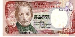 Colombia P.430  500  Pesos 1985  Unc - Colombia