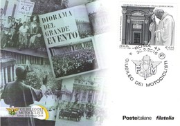 Cartolina Post Card Postal GIUBILEO DEI MOTOCICLISTI MOTO  2016 + ANNULLO - Autres