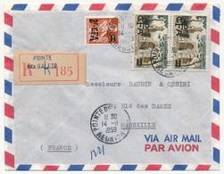 Enveloppe Recommandée Depuis Pointe Des Galets, Affr Composé, 1959 - Lettres & Documents
