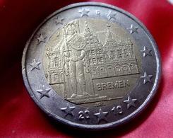 GERMANY - J - 2010 Deutschland 2 Euro Bremen Statue Roland  CIRCULATED COIN - Allemagne