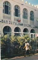 Cpsm 10x15 .COTE FRANCAISE DES SOMALIS. Bar Du Palmier En Zinc (Pub Bière Amstel) + Timbre 20 F Tadjourah - Somalie