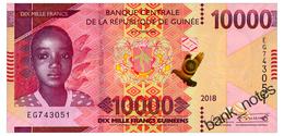 GUINEA 10000 FRANCS 2018 Pick New Unc - Guinee