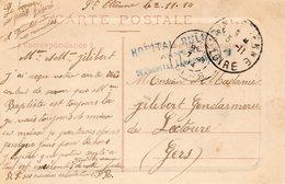 Hôpital Annexe RULLIERE St Etienne (Loire) - Marcophilie (Lettres)