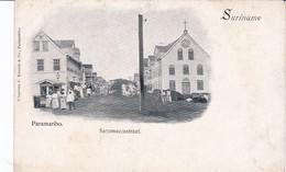 Suriname Paramaribo Saramaccastraat, Carte Rare - Suriname