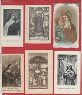 Image Pieuse - Lot De 12 Images - DIFFERENTES  SAINTES - A13 - Images Religieuses