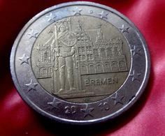 GERMANY - A - 2010 Deutschland 2 Euro Bremen Statue Roland  CIRCULATED COIN - Allemagne