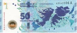 BILLETE DE ARGENTINA DE 50 PESOS DEL AÑO 2015 SIN CIRCULAR - UNCIRCULATED (BANKNOTE) CONMEMORATIVO - Argentina