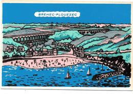 22 - BREHEC-PLOUEZEC  - Ed. Soven - Carte Avec Feutrine - France