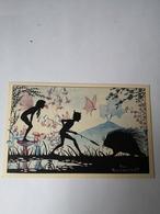 Silhouet Card - Dutch Illustrator Rie Reinderhoff - Fairy Tail Card Elf Animal No1 /19?? - Silhouetkaarten