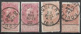 9W-966: ROULERS : 4 Zegels.. Verder Uit Te Zoeken - 1893-1900 Fine Barbe