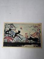 Silhouet Card - Dutch Illustrator Rie Reinderhoff - Fairy Tail Card Animal No2 /19?? - Silhouetkaarten