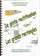 """BELGIUM RAILWAYS Cancellations """" The Large Rectangles"""" Type (1890-1914) Bilingual F-NL Fully Illustrated In Colour 123pp - Ferrocarriles"""