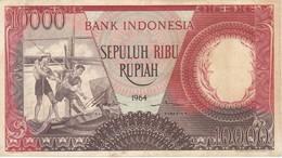 BILLETE DE INDONESIA DE 10000 RUPIAH AÑO 1964  (BANKNOTE) - Indonesia
